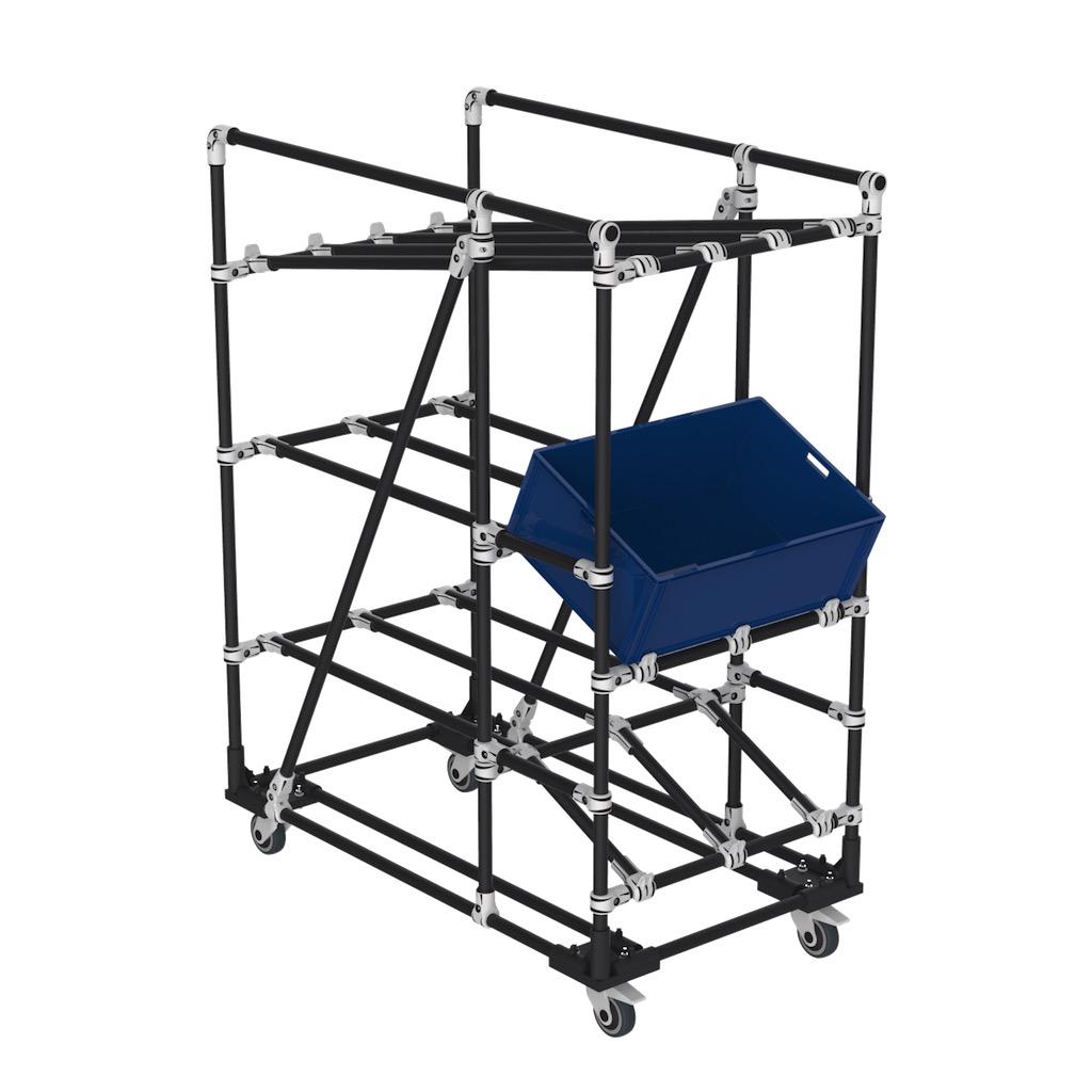 Plastic bin cart