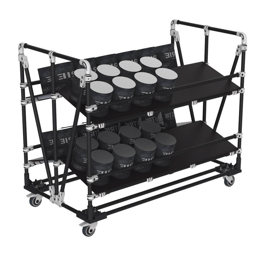 Dual picking cart