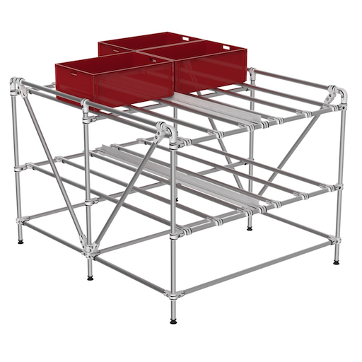 KLT storage shelf