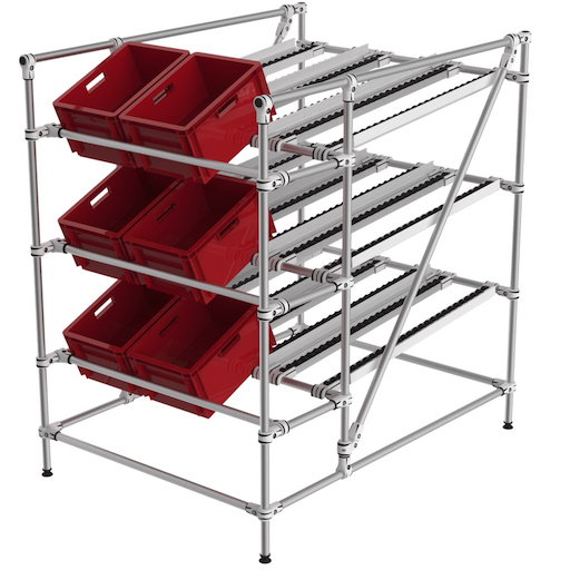 Gravity flow rack
