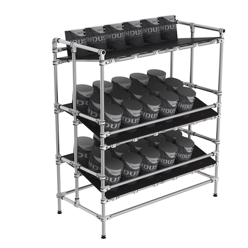 Ergonomic lean manufacturing shelf