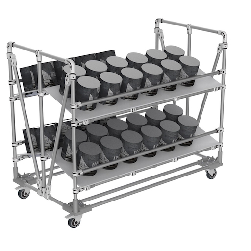 Dual picking trolley