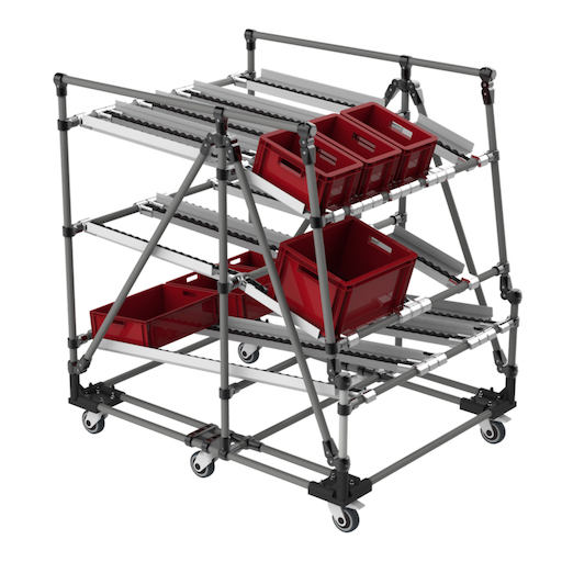 Logistic flow rack