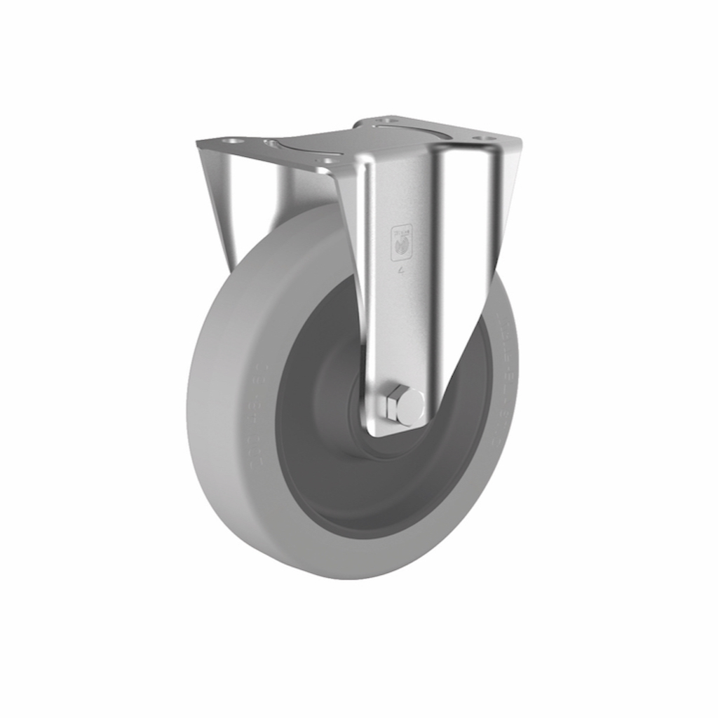 P-125 Roulette platine fixe Ø100 mm - charge max 180 kg