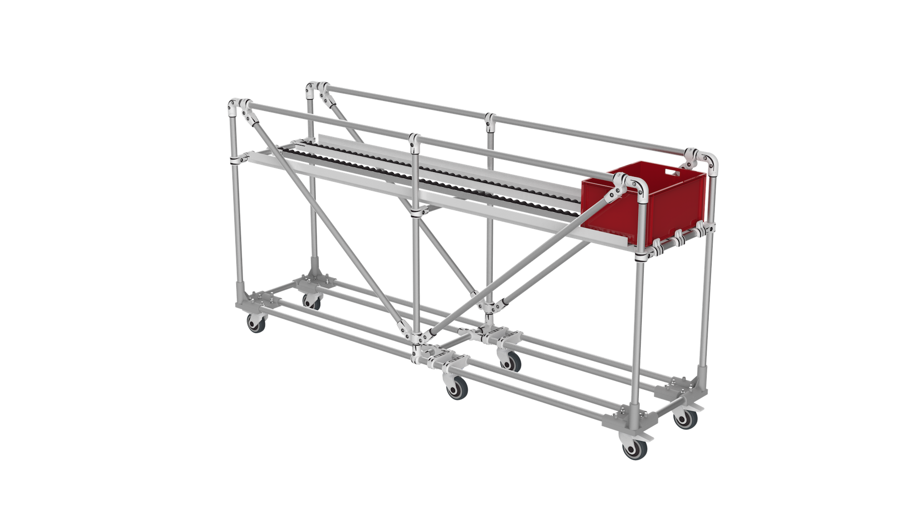 Box picking trolley