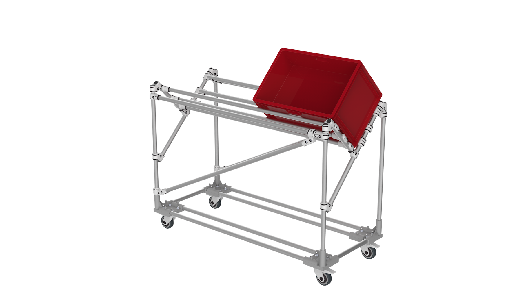 Angle KLT trolley