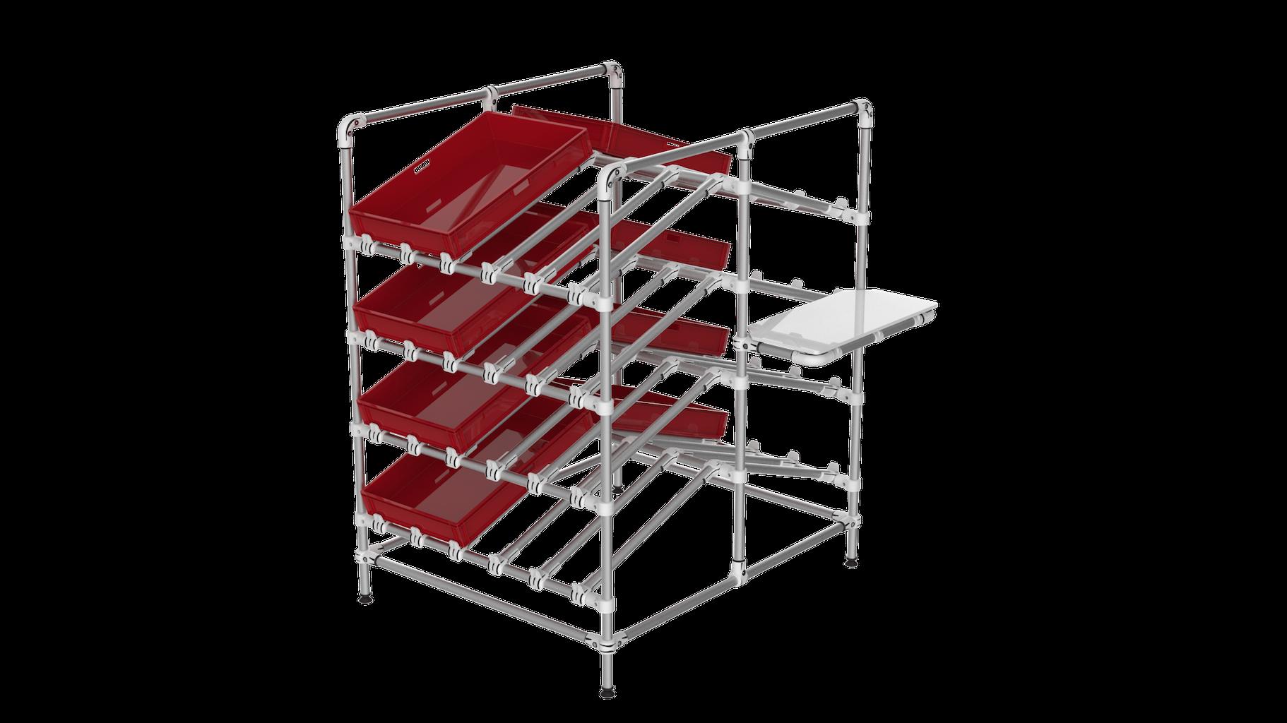 Double side box shelf