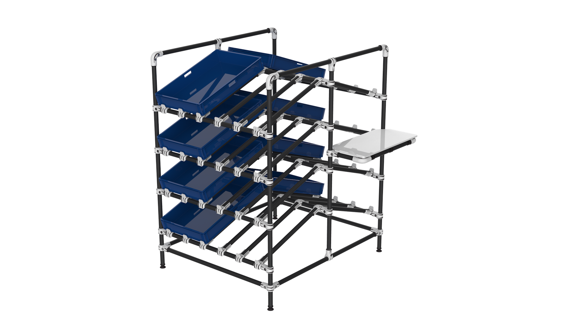 Double side box rack