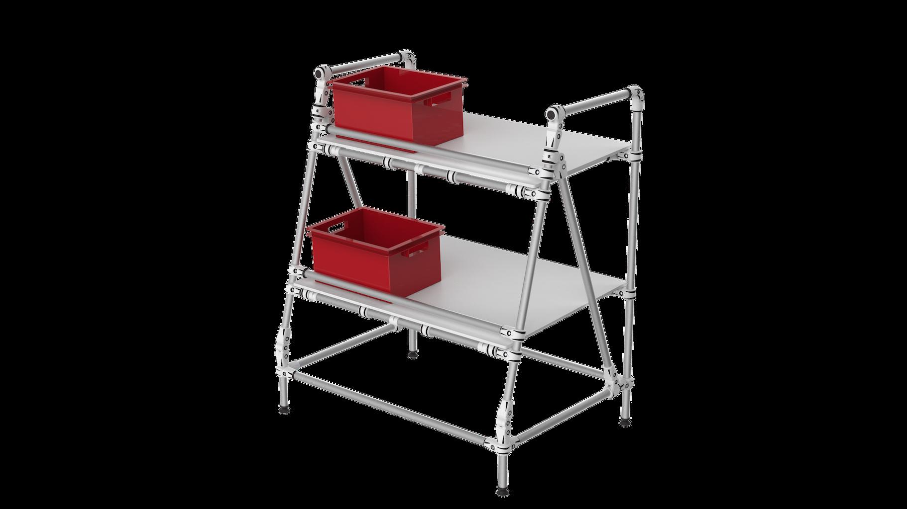 Ergonomic shelf