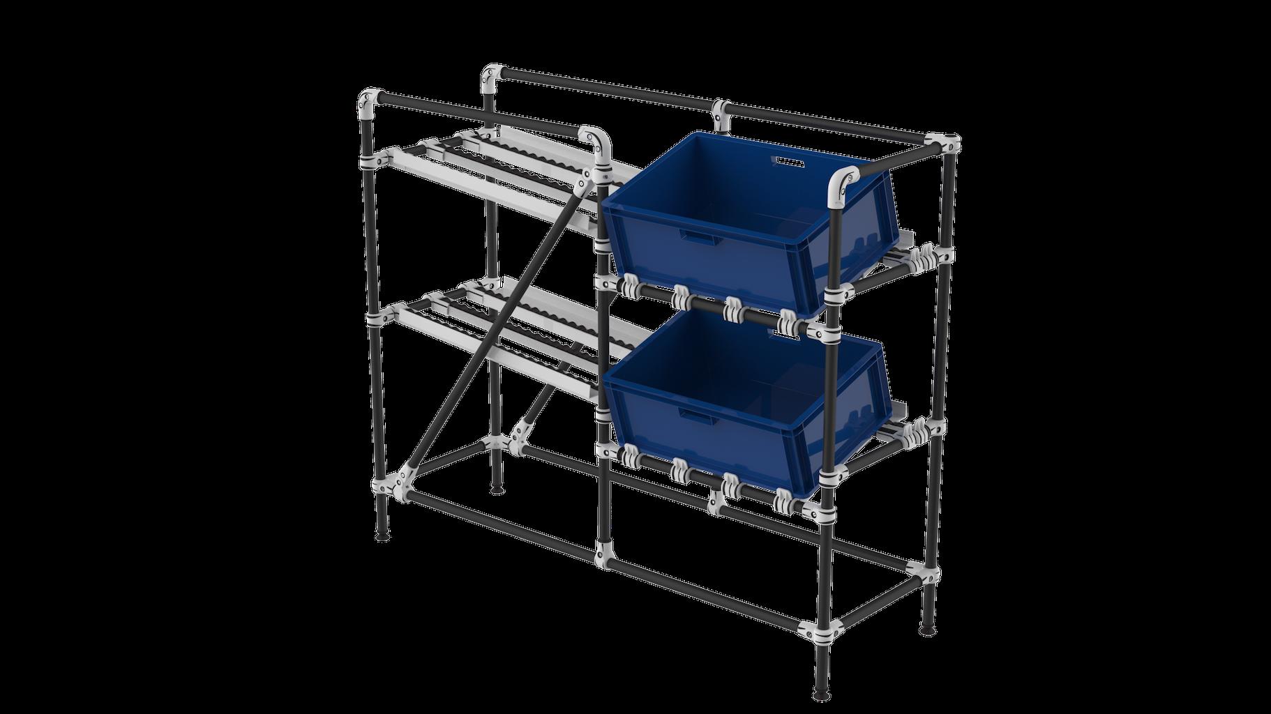 Line side angle rack