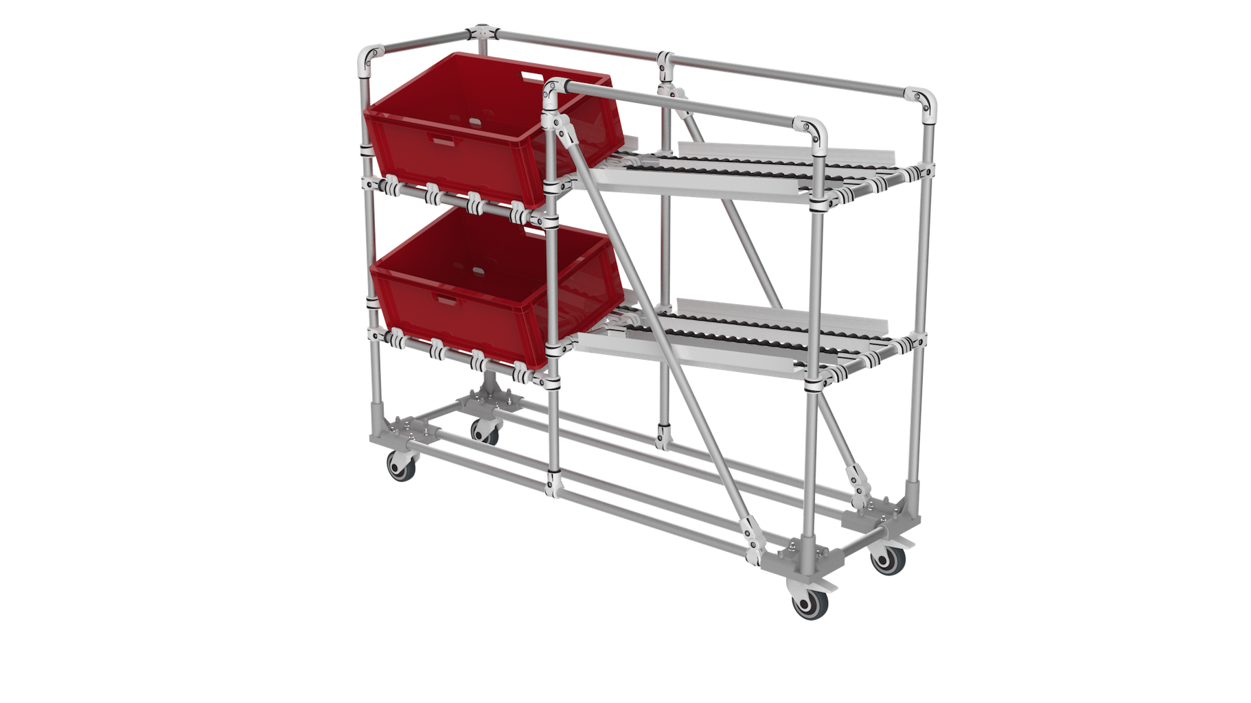 Angle picking trolley
