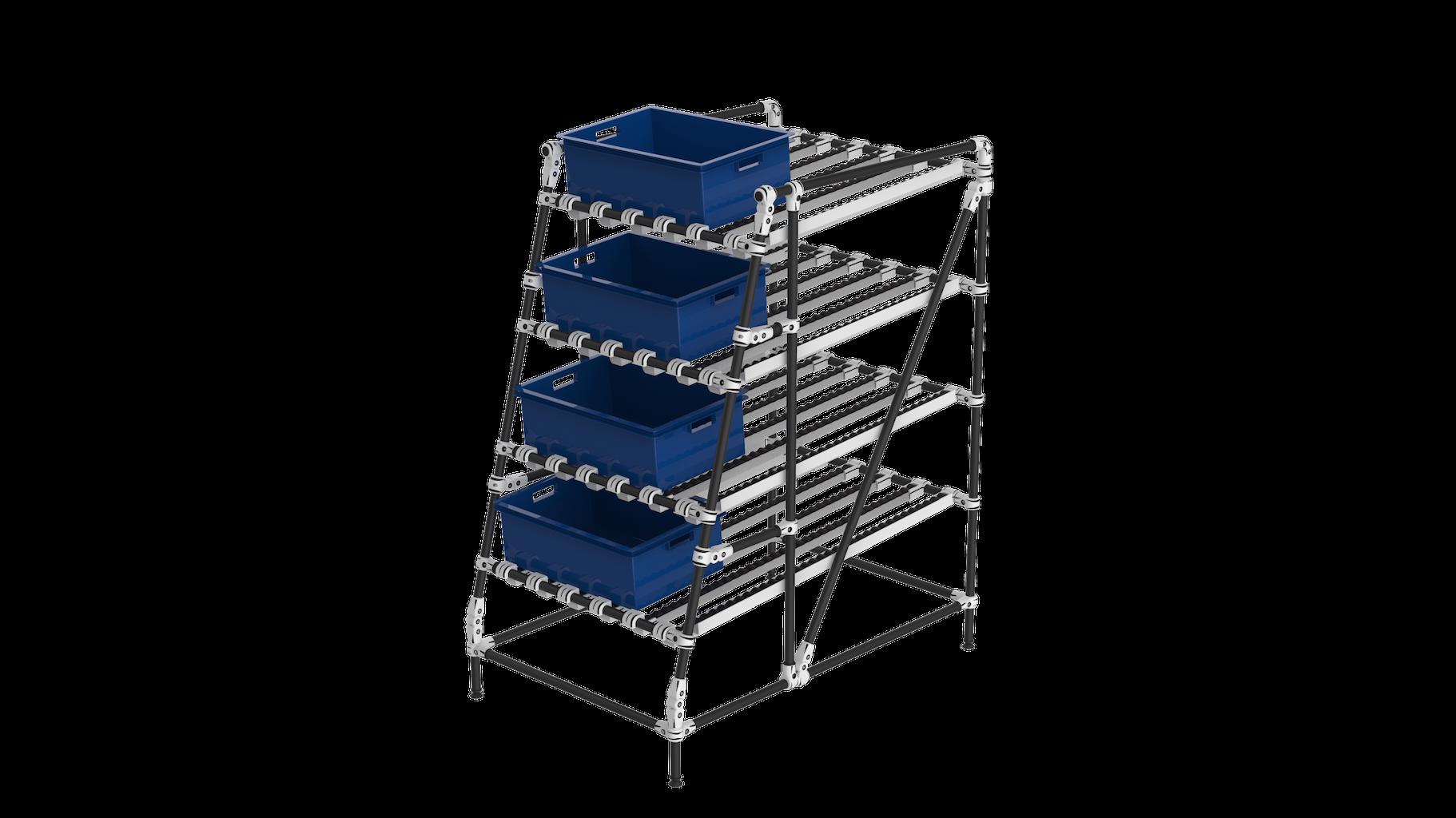 Ergonomic gravity live storage