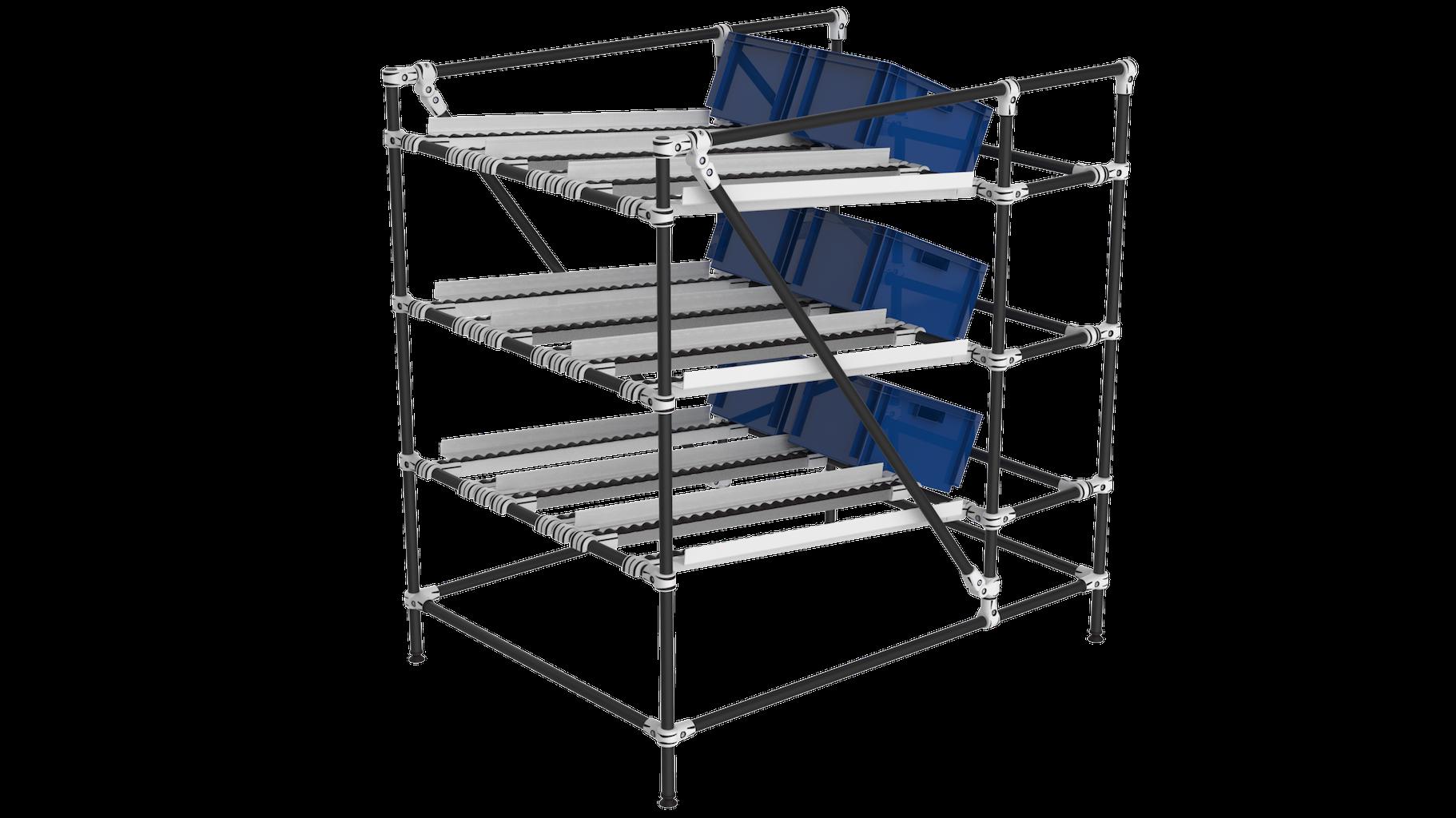 Gravity flow rack