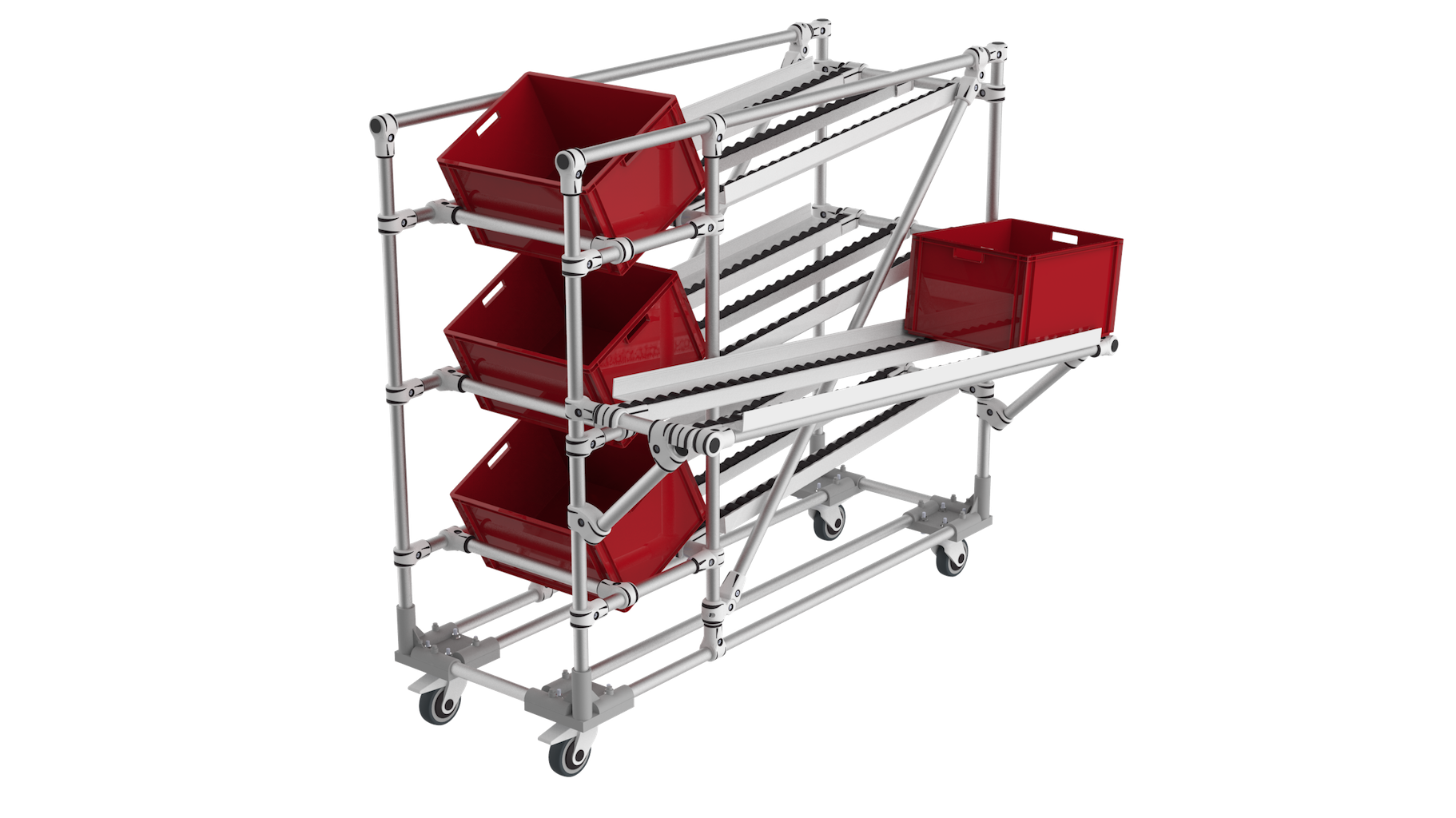 Flow rack lean manufacturing