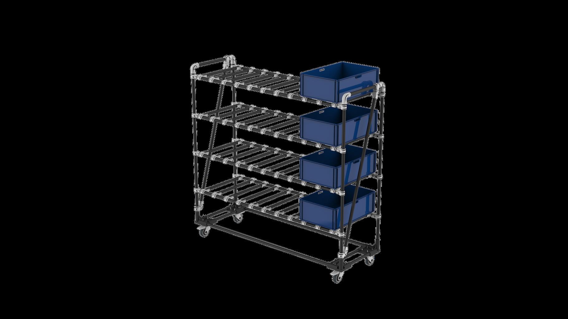 Plastic box cart