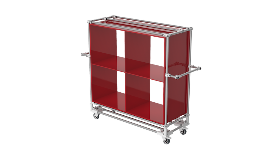 Compartment storage trolley
