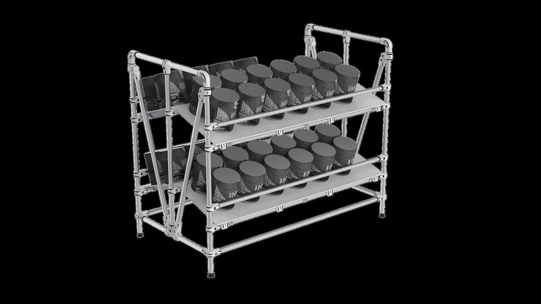Dual picking shelf