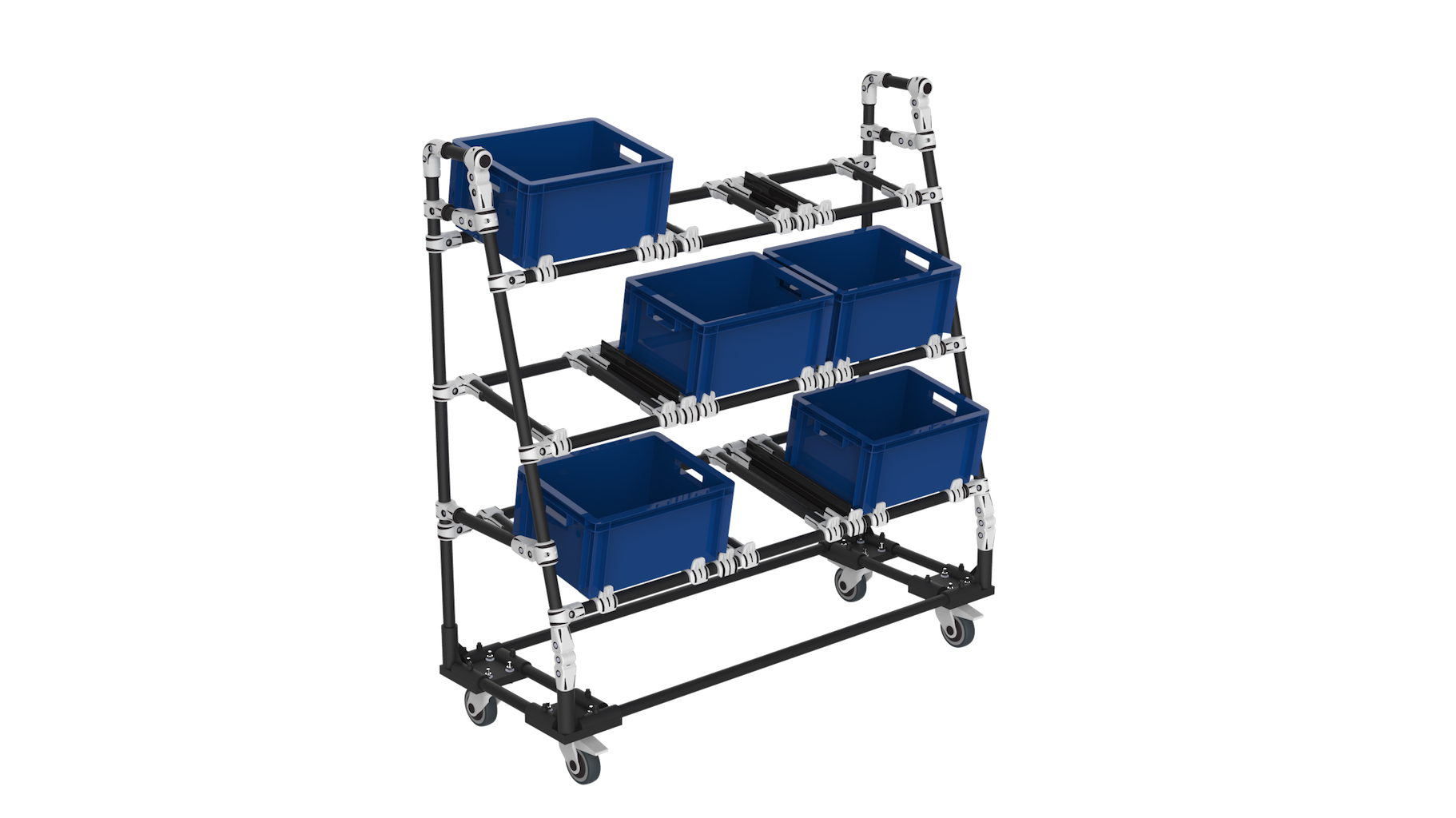Flexible picking box cart