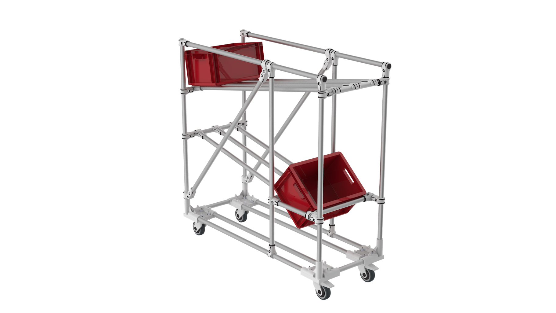 KLT picking flow rack