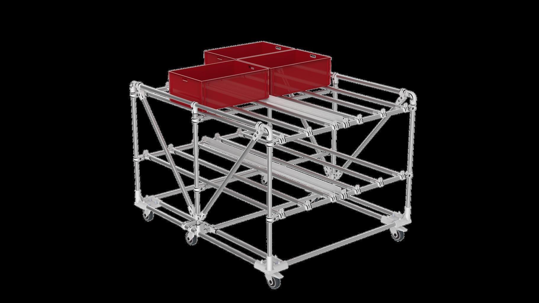 KLT storage cart