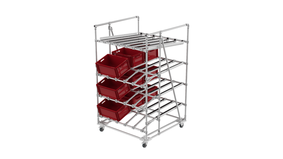 Ergonomic live storage racking