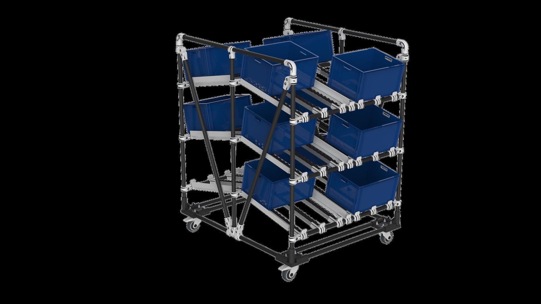 Box dual picking trolley