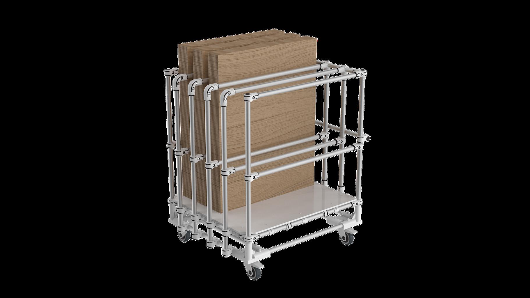 Vertical storage trolley