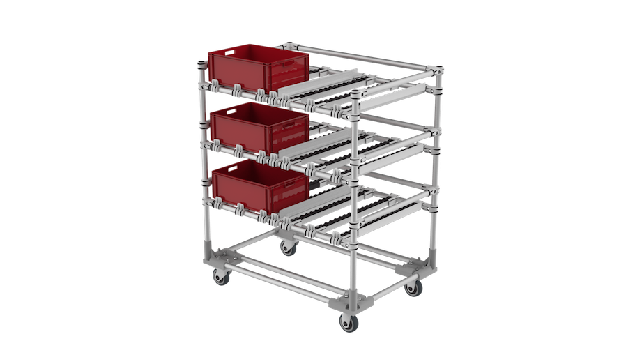 FIFO kitting trolley
