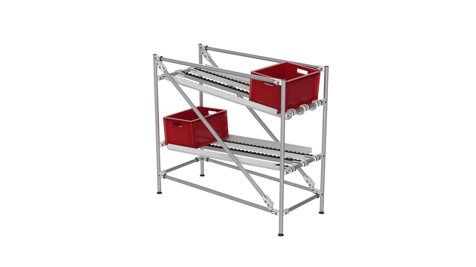 FIFO loading shelf