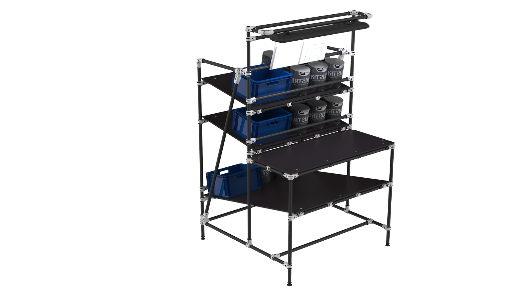 E-commerce packaging workstation