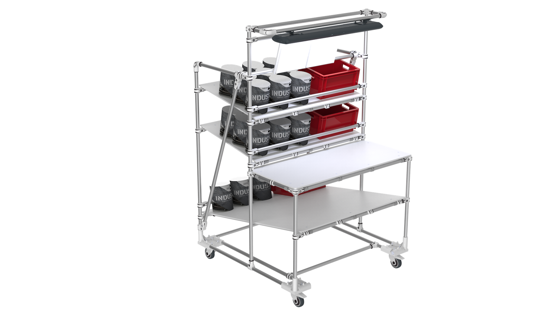 E-commerce packaging trolley