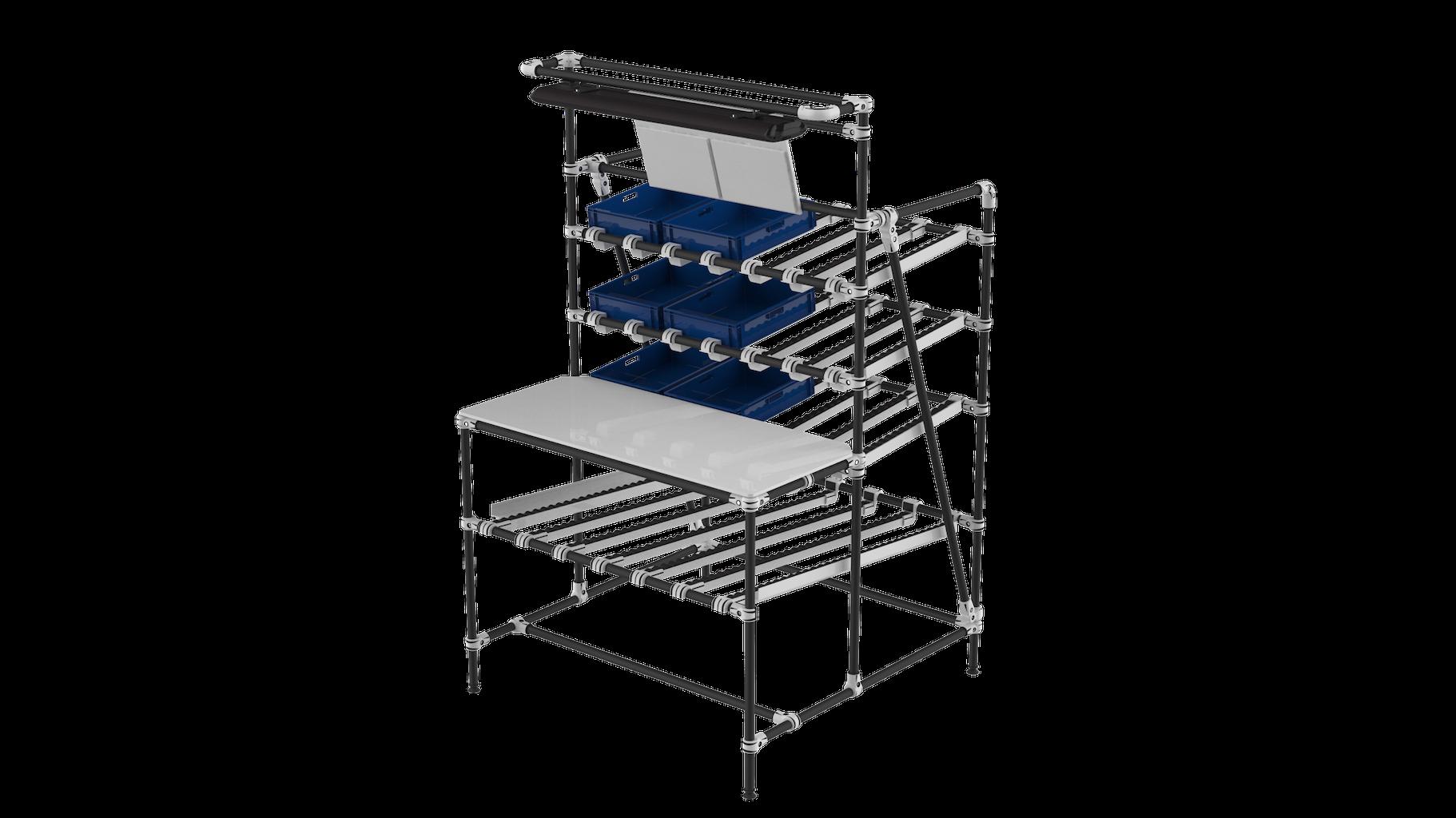 Workstation flow rack