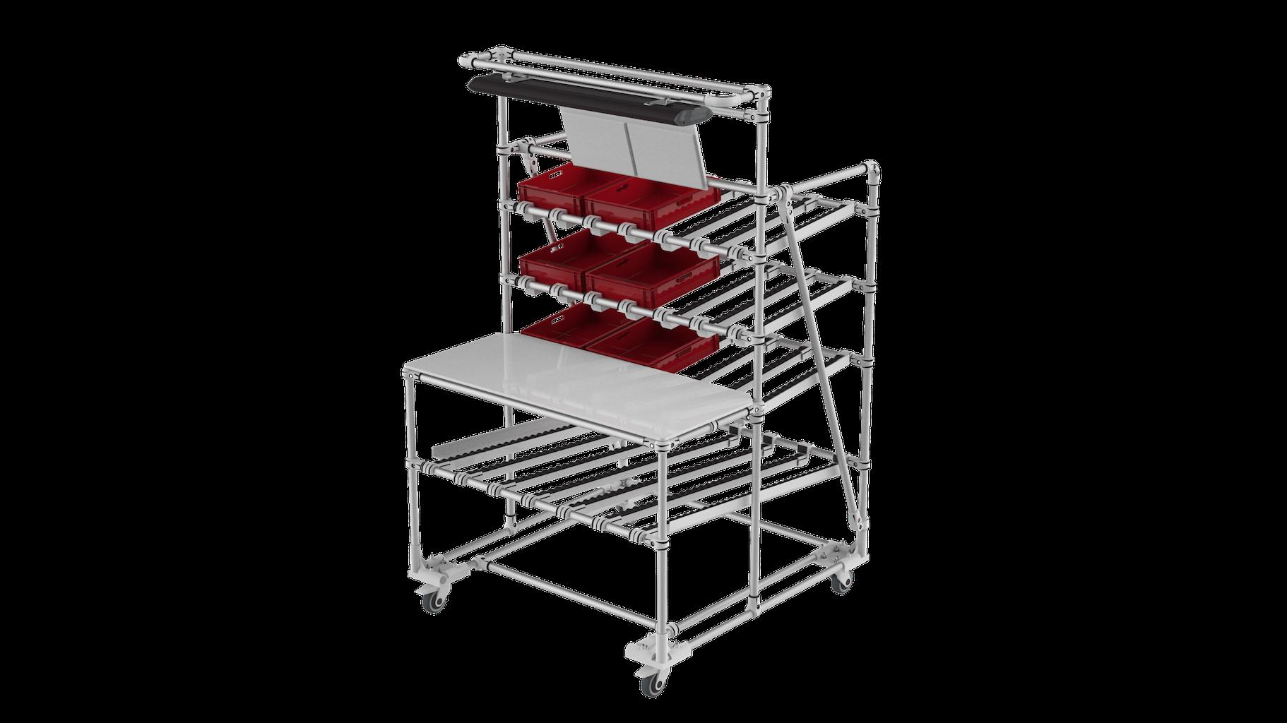 Workbench flow rack
