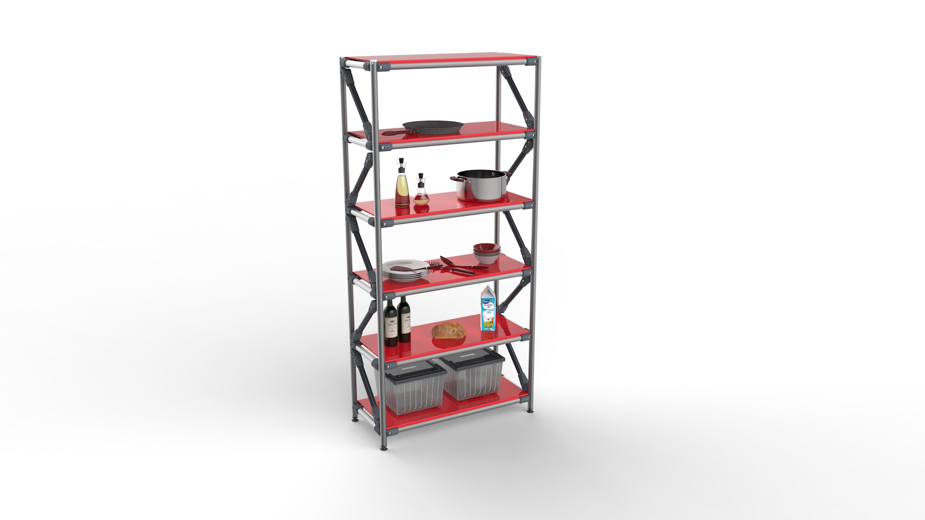 Adjustable multi-purpose shelving