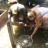 Krabben fangen in Bigi Pan