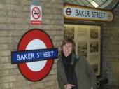 Sylvie in der Baker Street Underground-Station