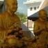 Bangkok - Mönchsstatuen