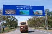 Grenze zu Thailand