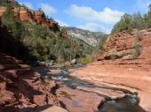 Slide rock im Oak Creek Canyon