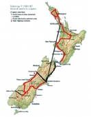 Reiseroute Neuseeland