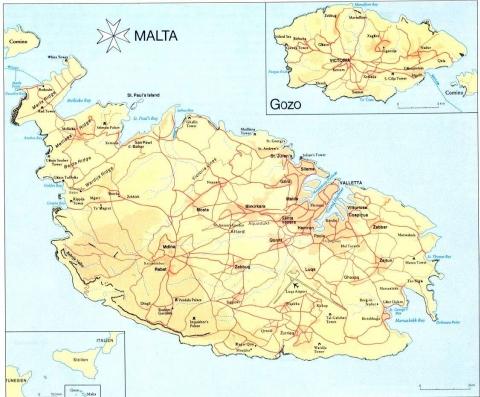 Mittelmeer Karte.Karte Malta Foto Aus Dem Reisebericht Malta Perle Im Mittelmeer