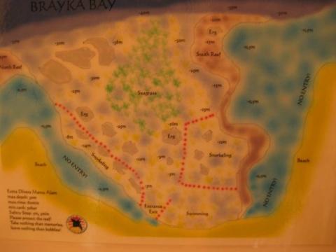 Marsá al `Alam - Zeichnung der Bucht