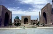 Registan mit den drei Medresen in Samarkand