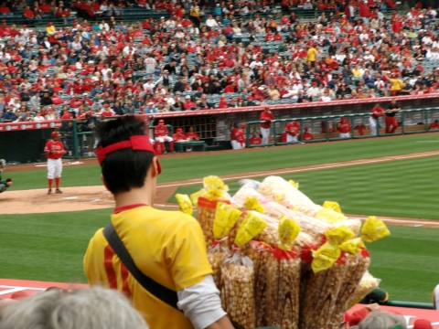 Los Angeles - Popcorn beim Baseball