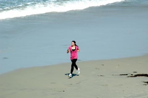 San Diego - Jogging am San Diego Beach
