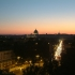 Blick ueber das abendliche Rom