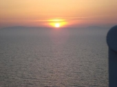 Sun Set hinter Sardinien