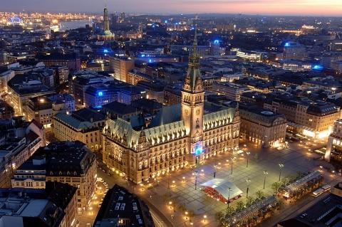 Hamburg - Rathaus zur WM