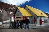 am Refugium angekommen 4810 m hoch