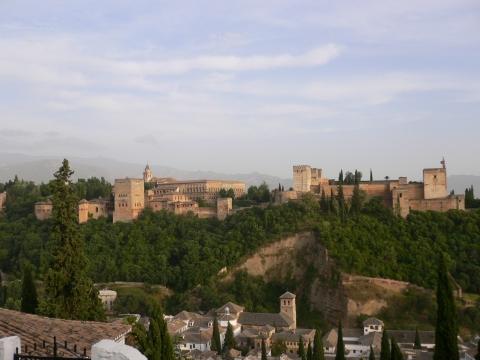 Granada - ggüber der Alhabra